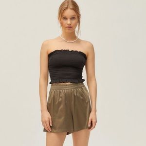 Urban Outfitters Smocked Ruffle Top